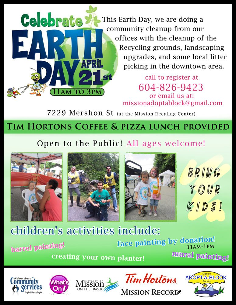 Poster for Mission Earth Day April 21, 2013
