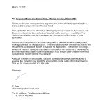 Letter from Chief Inspector of Mines regarding application for Sand & Gravel Mine, Thomas Avenue, Mission, BC